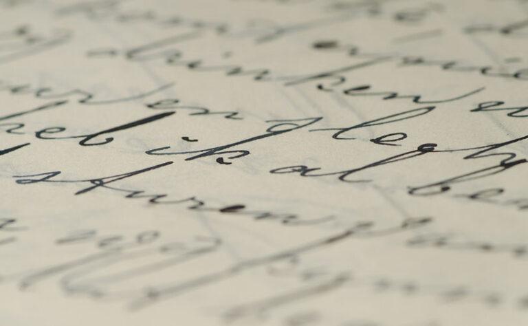 Več kot 200 let staro pismo, ki ga je zdravnik napisal svojemu bolniku